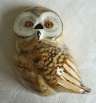"zz Toni Raymond Pottery retro vintage wall-hanging ""owl"" string holder / dispenser (SOLD)"